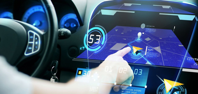 car navigation glass